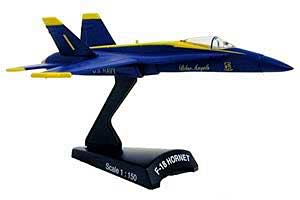 "F/A-18C Hornet ""Blue Angels"" (1:150), Model Power Diecast Planes Item Number MP5338-1"