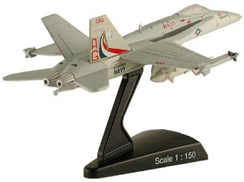 "F/A-18C Hornet ""VFA-131 Wildcats"" (1:150), Model Power Diecast Planes Item Number MP5338-3"