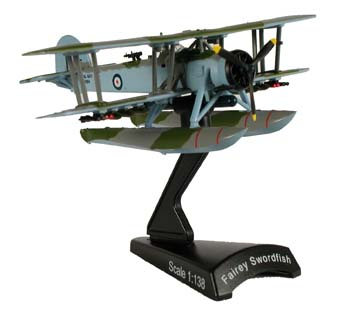 Fairy Swordfish (1:138), Model Power Diecast Planes Item Number MP5565-1