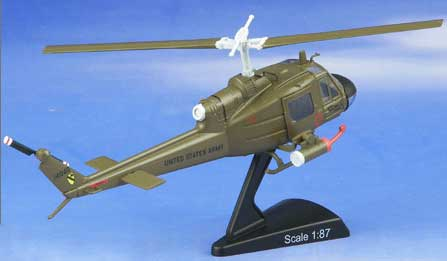 Huey Gunship 1st Calvary (1:87), Model Power Diecast Planes Item Number MP5601