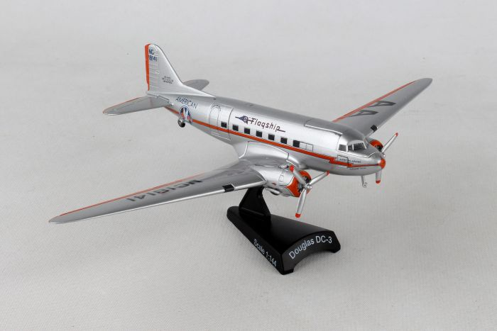 "American DC-3 ""Flagship Tulsa"" (1:144) by Postage Stamp Diecast Planes item number: PS5559-2"