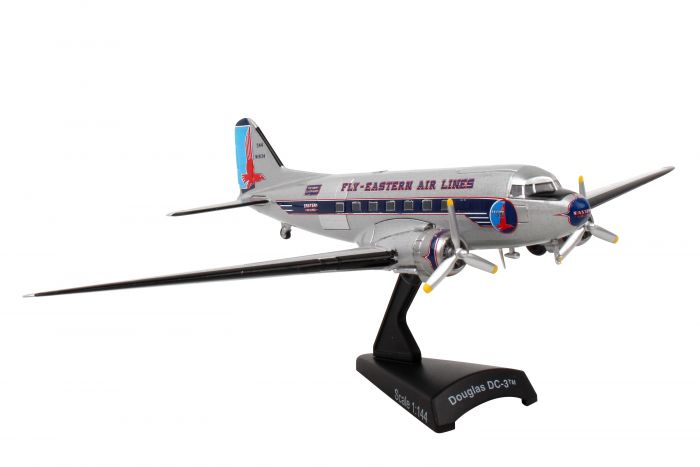 "Eastern Airlines DC-3 ""Fly Easter Air Lines"" (1:144) by Postage Stamp Diecast Planes item number: PS5559-3"