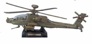 AH-64 Apache Helicopter (1:48) - Army Green