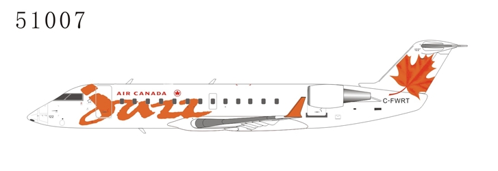 Air Canada Jazz CRJ-100ER C-FWRT Red (1:200), NG Models, 51007
