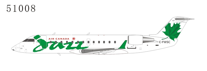 Air Canada Jazz CRJ-100ER C-FWSC Green (1:200), NG Models, 51008