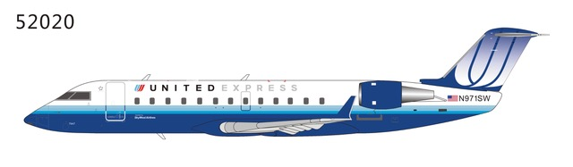 "United Express CRJ-200LR N971SW ""Blue Tulip"" colours (1:200) by NG Models Item Number: 52020"