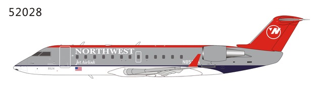 Northwest Airlink CRJ-200LR N8524A Bowling Shoe colors (1:200) by NG Models