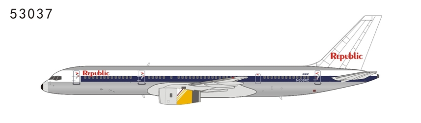 Republic Airlines 757-200 N606RC NW scheme, Royal Brunei cowling (1:400)