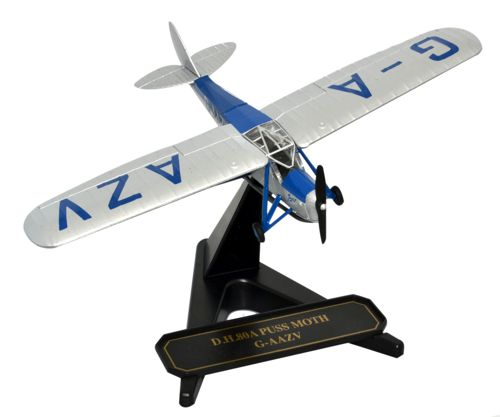 de Havilland DH.80A Puss Moth Jason II, G-AAZV, Aviatrix Amy Johnson (1:72) New Mold!, Oxford Diecast 1:72 Scale Models Item Number 72PM001