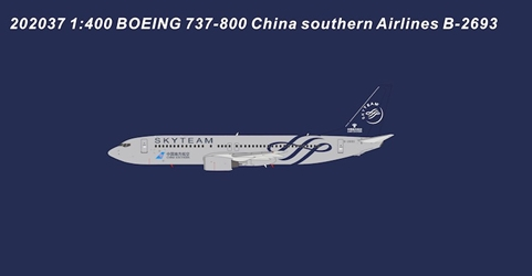 China Southern Airlines B737-800 B-2693 SkyTeam (1:400)