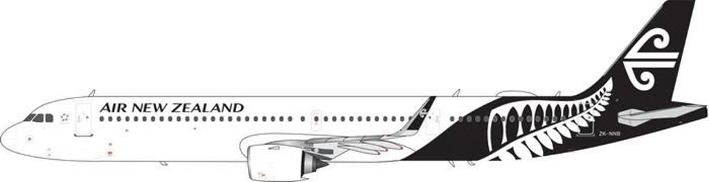 "Air New Zealand A321neo ""White with Black Tail"" ZK-NNB (1:400) - , Phoenix 1:400 Scale Diecast Aircraft, Item Number PH4ANZ1843"