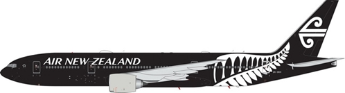 "Air New Zealand B777-200ER ""All Black"" ZK-OKH (1:400) - , Phoenix 1:400 Scale Diecast Aircraft, Item Number PH4ANZ1847"