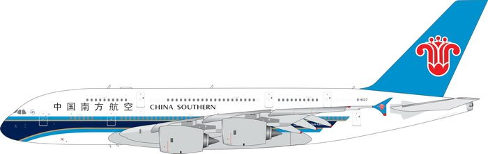 China Southern A380-800 B-6137 (1:400) by Phoenix 1:400 Scale Diecast Aircraft Model number PH4CSN1899