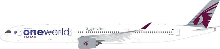 Qatar A350-100 One World Livery A7-ANE (1:400) by Phoenix 1:400 Scale Diecast Aircraft Item Number: PH4QTR1886
