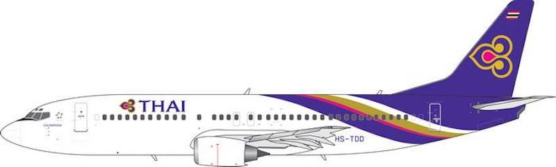 Thai Airways B737-400 (New Titles) HS-TDD (1:400)- Preorder item, order now for future delivery, Phoenix 1:400 Scale Diecast Aircraft, Item Number PH4THA1857