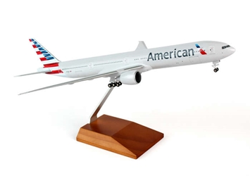 American 777-300 (1:200) with gear & Wood Stand, SkyMarks Airliners Models Item Number SKR5041