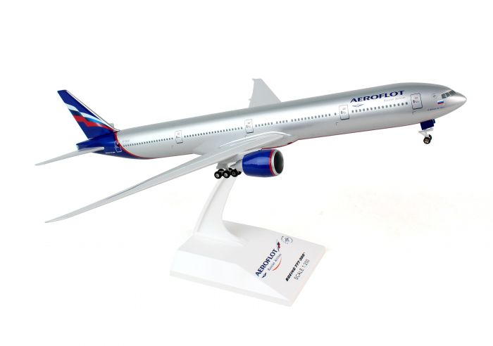 Aeroflot 777-300 (1:200) With Gear by SkyMarks Airliners Models item number: SKR807