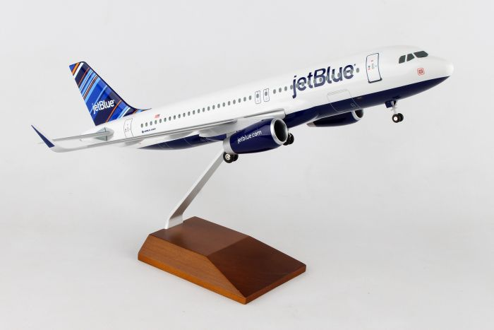 "Jetblue A320 ""Barcode"" (1:100) by Skymarks Supreme Desktop Aircraft Models item number: SKR8333"