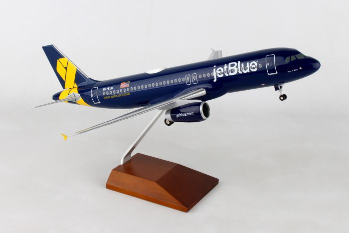 "Jetblue A320 ""Vets in Blue"" (1:100) by Skymarks Supreme Desktop Aircraft Models item number: SKR8356"