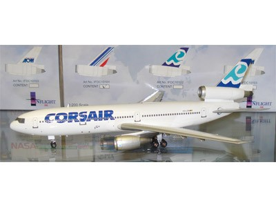 "Corsair DC-10 Reg OO-LRM ""Socatec Exclusive"" (1:200), InFlight 200 Scale Diecast Airliners Item Number IF10102"