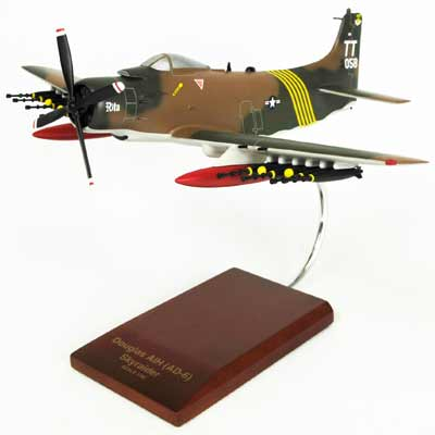 A-1H Skyraider Douglas (1:40), TMC Pacific Desktop Airplane Models Item Number AA1T