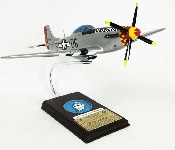 "P-51D Mustang ""Old Crow"" - Signed Edition, TMC Pacific Desktop Airplane Models Item Number AP51OCTSS"
