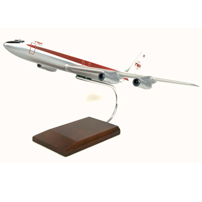 B707-320 TWA (1:100), TMC Pacific Desktop Airplane Models Item Number KB707TWAT