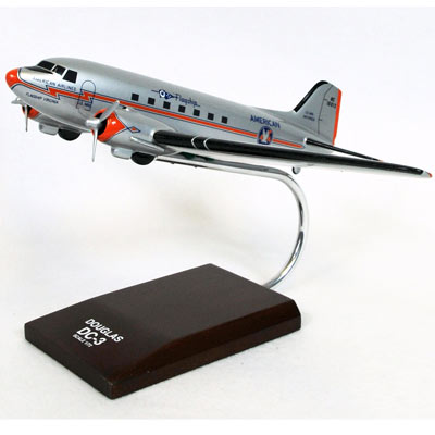 DC-3 American (1:72), TMC Pacific Desktop Airplane Models Item Number KDC3AAT