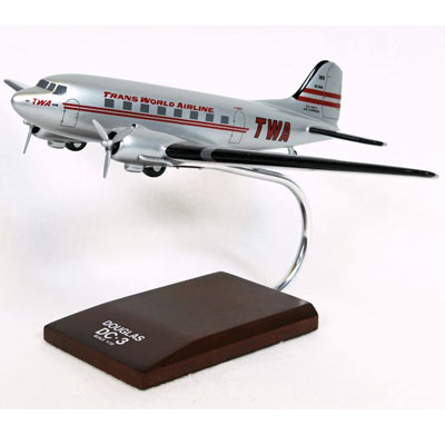 DC-3 TWA (1:72), TMC Pacific Desktop Airplane Models Item Number KDC3TWAT
