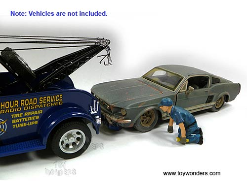 Tow Truck Driver Scott Figure (1:24) (Blue)