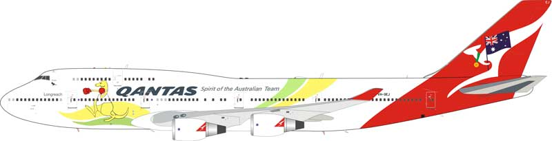 "Qantas 747-400 VH-OEJ ""2016 Olympic Livery"" (1:200), InFlight 200 Scale Diecast Airliners Item Number IF744QFA2016"