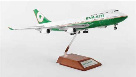 EVA Air B747-400 B-16410, with Stand (1:200)