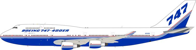 Boeing B747-400ER House Colors (1:200), JC Wings Diecast Airliners, Item Number JC2BOE174