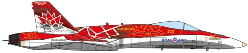 CF-188 Hornet Royal Canadian Air Force, 150th anniversary of Confederation, 2017 (1:144)