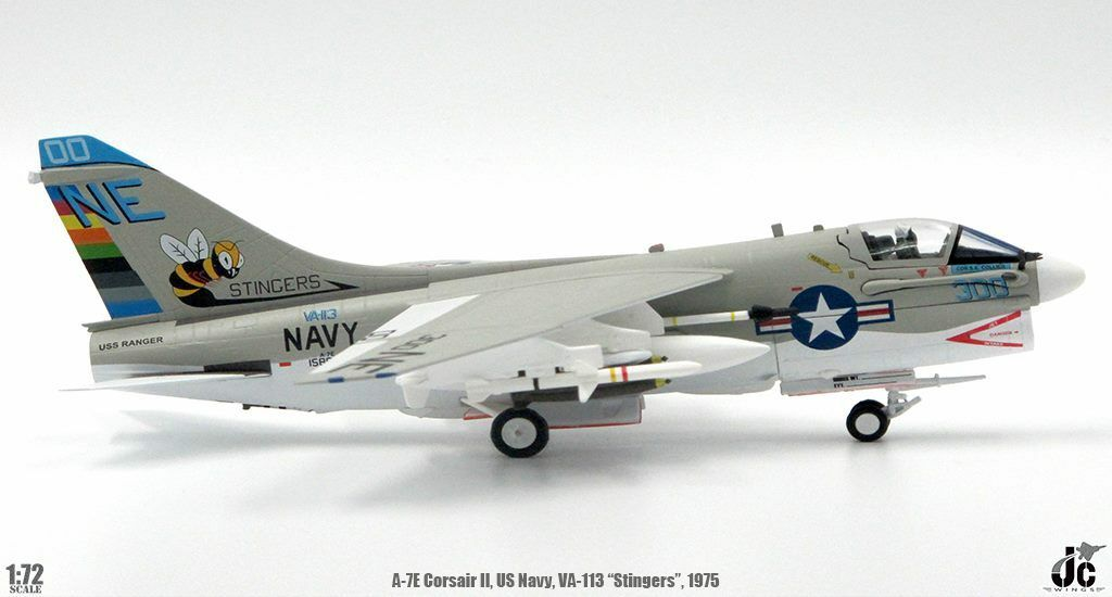 A-7E Corsair II VA-113 Stingers, USS Ranger(CVA-61), 1975 (1:72) by JC  Wings Millitary