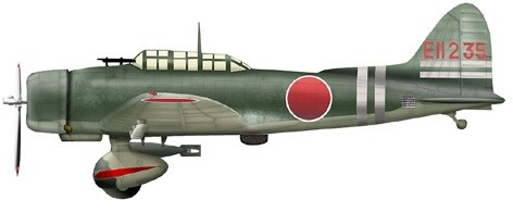 "Aichi D3A1 ""Val"" Dive Bomber Model 11 EII-235, Carrier Zuikaku, ""Battle of Coral Sea"" (1:72), SkyMax Diecast Item Number SM5008"