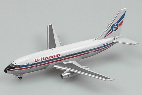 "Britannia 737-200 ""Red Titles"" (1:400), Aviation400 Diecast Airlines Item Number AV4732016"