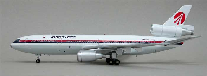 "Japan Asia DC-10-40 ""Delivery Livery"" ~JA8534 (1:200), Blue Box Airplane Models Item Number BBOXJAL03"