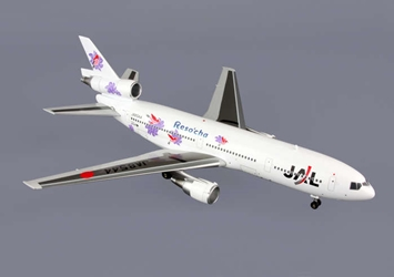 "Japan Airlines DC-10-40 ""RESOCHA"" ~JA8544 (1:200), Blue Box Airplane Models Item Number BBOXJAL07"