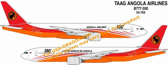 TAAG Angola Airlines B777-200 (1:400)