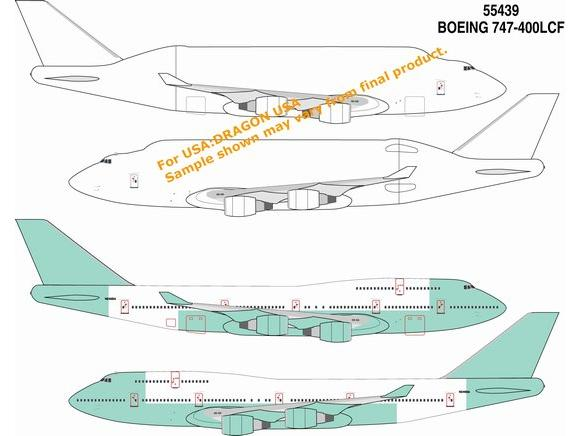 Boeing B747-400 Large Cargo Freighter (LCF) & B747-400 (1:400), DragonWings 400 Diecast Airliners Item Number DRW55439