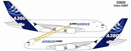 Airbus A380F (Freighter) - New Airbus House Colors (1:400), DragonWings 400 Diecast Airliners Item Number DRW55826