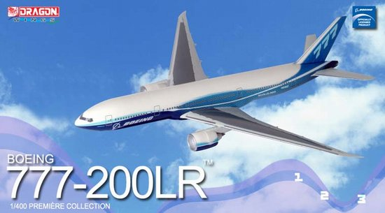 Boeing 777-200 LR 2004 Boeing Livery (1:400), DragonWings 400 Diecast Airliners Item Number DRW55864
