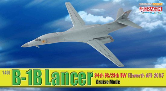 B-1B 34th BS/28th BW Ellsworth AFB 2005 (1:400), DragonWings 400 Diecast Airliners Item Number DRW56313