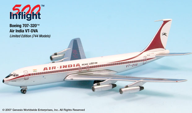 Air India 707-300 (1:500), InFlight 500 Scale Diecast Airline models Item Number IF5707004