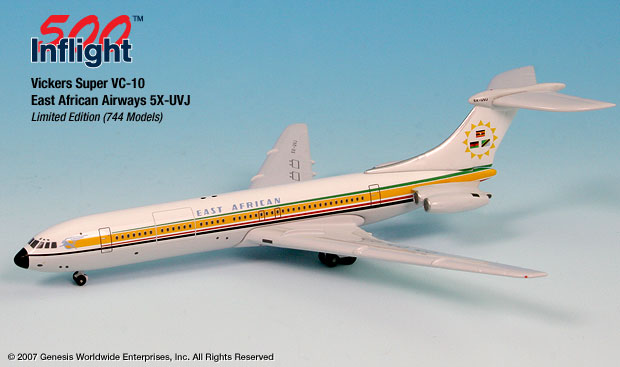 East African Airways Super VC-10 ~ 5X-UVJ (1:500), InFlight 500 Scale Diecast Airline models Item Number IF5SUVC002