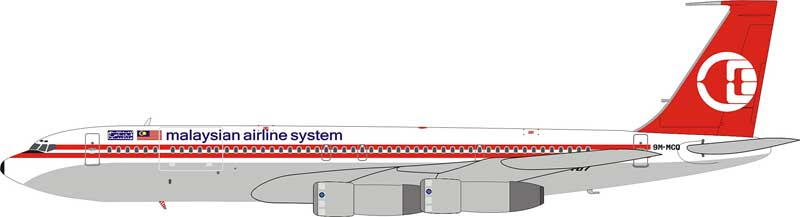 Malaysian Airline System 707-300 9M-MCQ (1:200), InFlight 200 Scale Diecast Airliners Item Number IF7070413