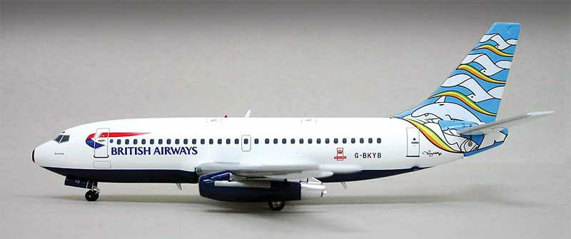 "British Airways 737-200 ""Blue Poole"" -G-BKYB (1:200), InFlight 200 Scale Diecast Airliners Item Number IF7321111A"