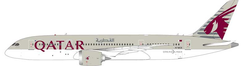 "Qatar 787-8 A7-BCE ""One World"" (1:200), InFlight 200 Scale Diecast Airliners Item Number IF7870314"