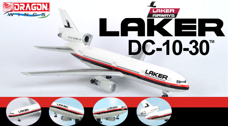Laker DC-10 Super 30 (1:400), Jet X 1:400 Diecast Airliners Item Number JETJXM108